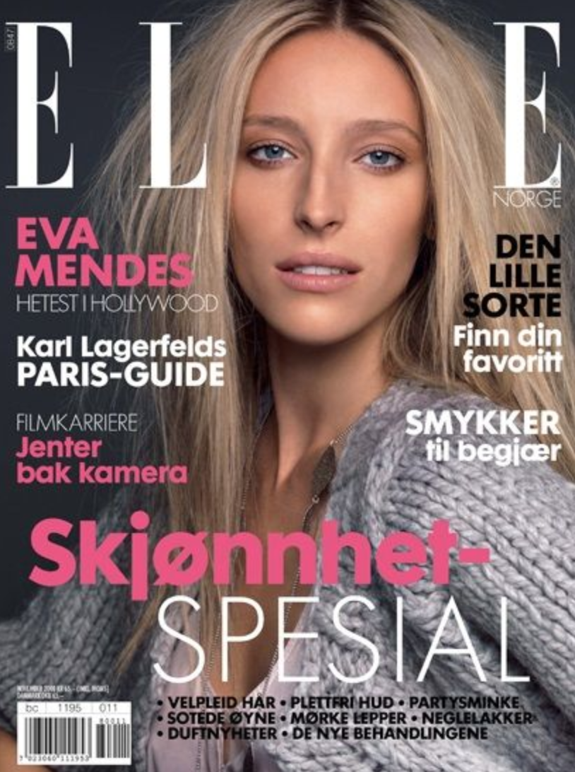 37e5038eae7f Carmen Villain on the cover of Elle magazine.