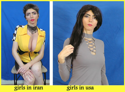 Internet meme Nasim Aghdam posted showing the difference between girls in Iran and the United States [14]