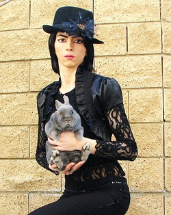 With a bunny