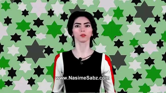 Screenshot of Nasim Aghdam from one of her YouTube​ videos