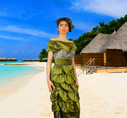Photoshopped picture of Nasim Aghdam at a beach posted on her Telegram.org channel [14]