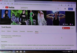 Screenshot of Nasim's Turkish channel on YouTube
