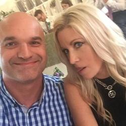 Selfie of Darcy Haugen with his wife.