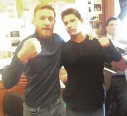 Photo of Conor McGregor​ with Casey Judelson.