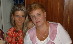 Ekaterina Fedyaeva with her mother Galina.