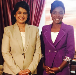 With President Ameenah Gurib-Fakim of Mauritius