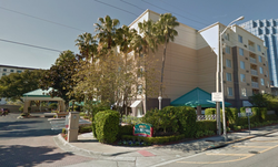 The Marriott hotel​ where Sarah Louise McGill was arrested in Orlando, Florida​ [15]​