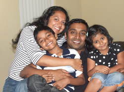 Sandeep Thotapilly pictured with his family in 2013