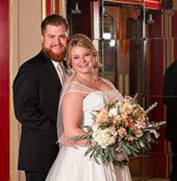 Taylor Valandingham-Dunham pictured with her husband Matt Dunham