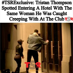 Footage of Tristan Thompson​ inviting Lani Blair up to his hotel.