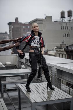 Model @alexundone in AKINGSNY denim styled by @youthsmr , shot by @frankhavemercy