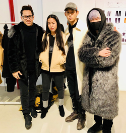 Guest, Wow Khoman, Spencer Ahn, and Alan King at NYFW Khoman Room X AKINGSNY Popup Event at SoHo, New York