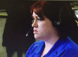 Amber Smith pictured at work