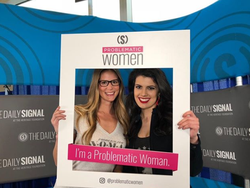 Photo of Bre Payton and her friend Kelly Harkness at the Conservative Political Action Conference​ [5]​