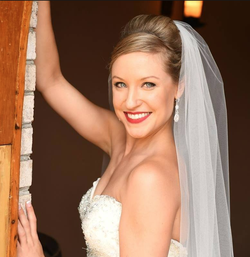 Rachael Bade pictured at her wedding