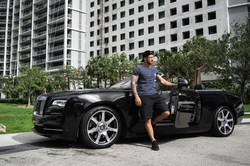 Kaio Alves Goncalves with his Rolls-Ryce in Miami