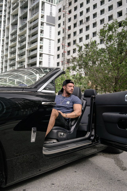 Kaio Alves Goncalves with his Rolls-Ryce in Miami - shot by Alan King (Alan Cheung)