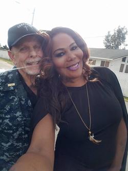 Selfie of Ebony Ava Harper and a friend