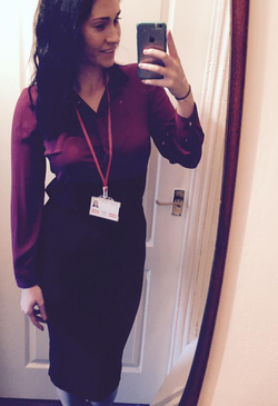 Selfie​ of Shauna Cleary in office attire [5]​