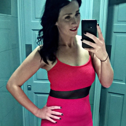 Selfie​ of Shauna Cleary in a red dress [5]​