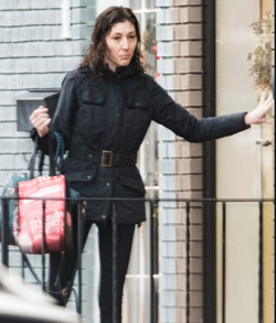 Photo of Lisa Page taken while out in the streets that was sold to the press.