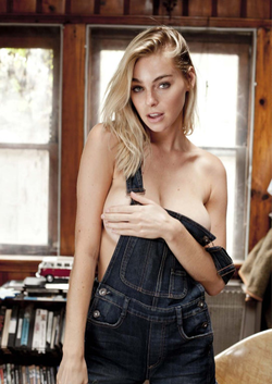 Photo of Elizabeth Turner wearing overalls [5]​