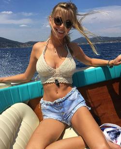 Elizabeth Turner on a boat    [5]    