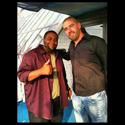 With Kenan Thompson​ on the set of The Opposite Sex