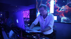Mark Vanderpump DJing.