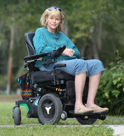 Samantha Markle on her wheelchair.