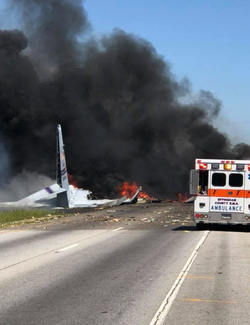 Photo of the crash