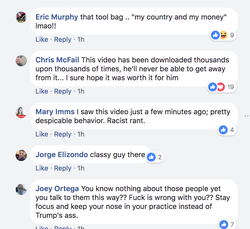 Reactions from users on Facebook.
