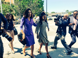 Elissa Ennis leaves court with her attorney after testifying at theSanta Clara Hall of Justice on Thursday May 17, 2018