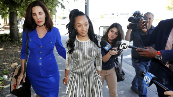 Elissa Ennis leaves court with her attorney after testifying at the Santa  Clara Hall of Justice on Thursday May 17, 2018