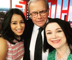 With Tom Brokaw and Tamara Keith