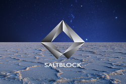 Logo of SaltBlock that has been shared on their Website.