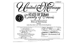 Marriage certificate                              ​ from the marriage of Nick Shaughnessy and his wife, Jaclyn Edison                                                                  [8]                                                               ​