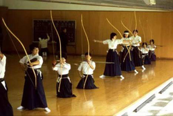 Kyudo training in Japan