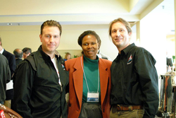 With commercial astronaut Jason Reimuller and                               NASA astronaut                              ​                               Yvonne Cagle                              ​