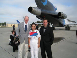 NASA astronaut                               Daniel T. Barry                              ​, KARI astronaut                               Soyeon Yi                              ​ and commercial astronaut                               Christopher Altman                              ​ following a                               Microgravity                              ​                               Parabolic Flight                              ​ at                               NASA Ames                              ​