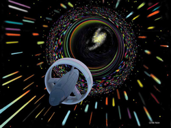 NASA Breakthrough Propulsion Physics program. Wormhole as envisioned by artist