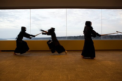 Kendo training in Japan