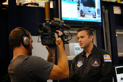 Interviewing for a                               Virgin Galactic                              ​-supported documentary on spaceflight training with the first generation of                               Commercial astronauts                              ​