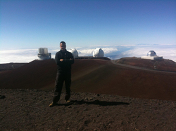 At the summit of                               Mauna Kea                              ​ near astronaut training training operations with NASA, ESA and CSA at the Pacific International Space Center for Exploration Systems