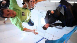 Parabolic microgravity flight in Zero G One