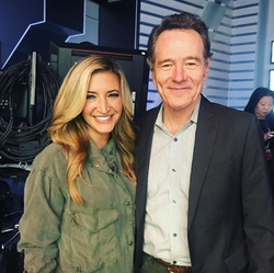 Photo of Cynthia Frelund and Bryan Cranston​​ [9]​