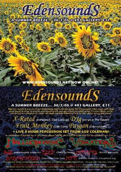 Edensounds 2005 flyer