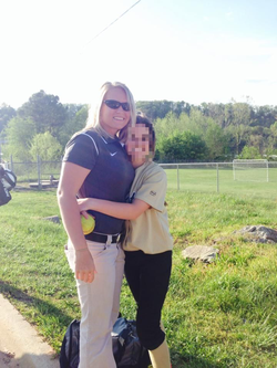 Kayla Sprinkles coaching softball at Andrews High School [4]