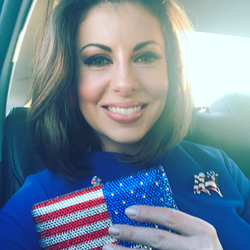 Morgan Ortagus on the way to a gala [4]​