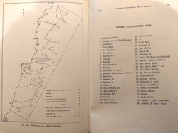 Map showing Middle Paleolithic Sites in Lebanon in Part 1 (credit to the memories of Lorraine Copeland and Peter J. Wescombe)